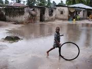 Rolling a wheel, Zanzibar