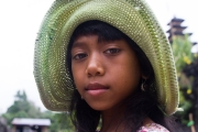 A girl with the hat, Bali