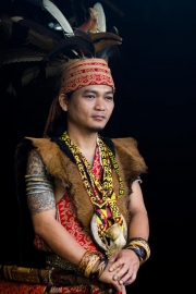 Iban tribe chief, Borneo