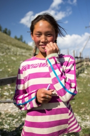 Girl smiling, Mongolia