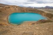 Krafla lake, caldera