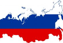 Flag - map of Russia, Visa