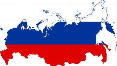 Flag - map of Russia, Visa