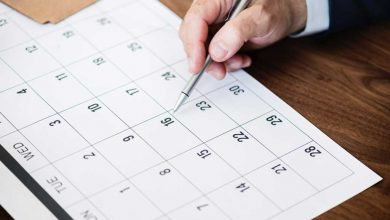 Calendar planning time to visit