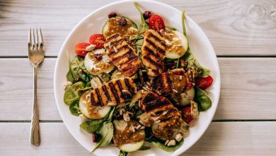 Healthy food, restaurant, salad
