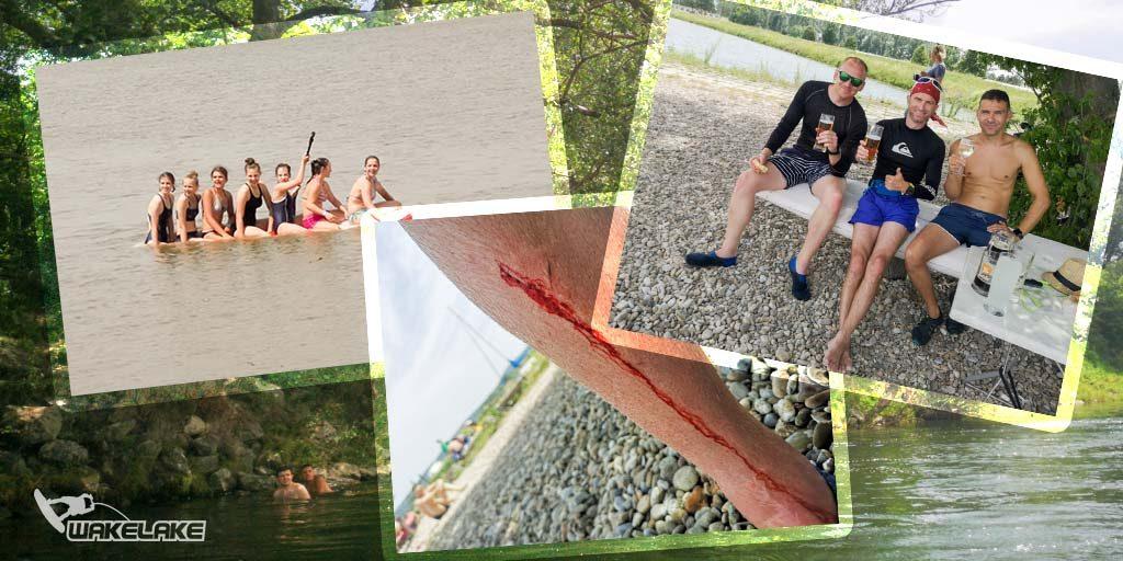 Sĺňava, rieka Váh, splav na paddleboardoch, SUP, Wakelake